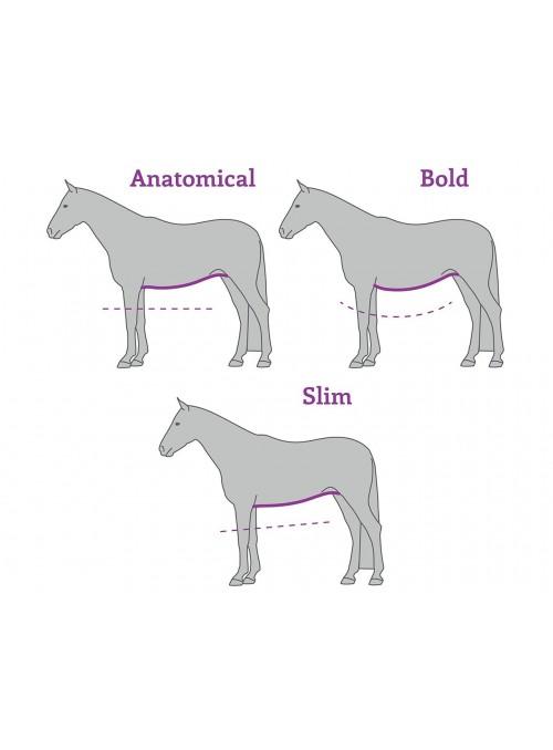 Popręg anatomiczny ujeżdżeniowy Slim