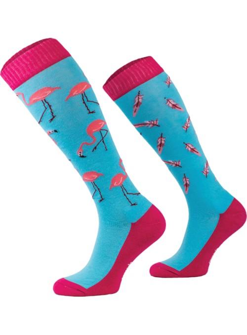 Podkolanówki flamingi