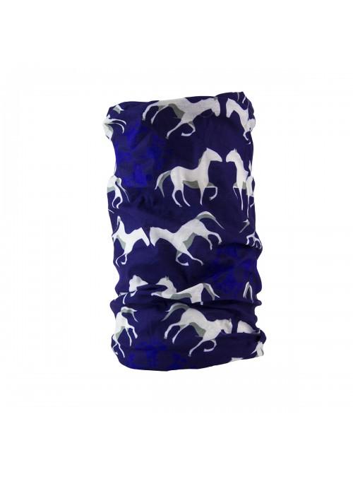 Komin niebieski konie