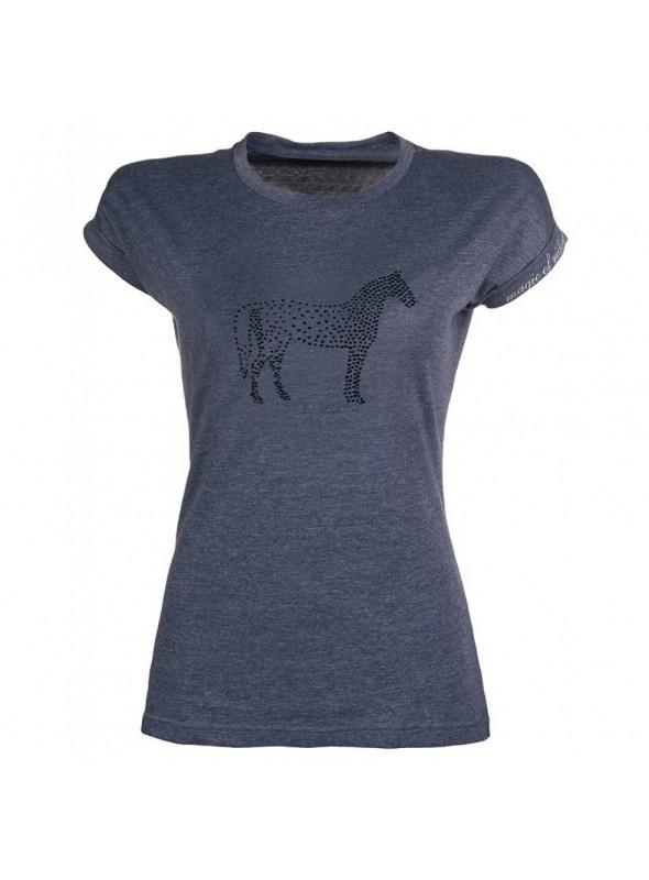 Koszulka Crystal Horse granat 158/164