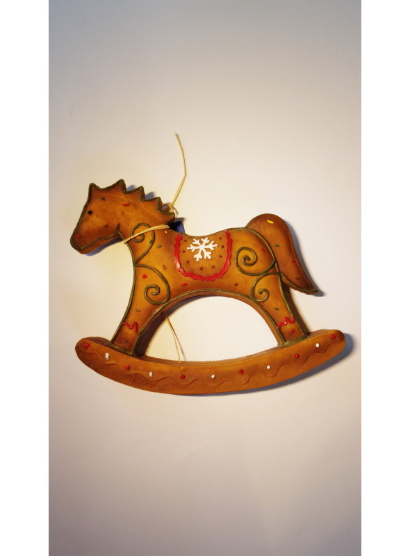 Koń na biegunach jak piernik