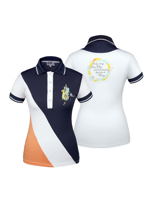 Koszulka polo POLA XS brzoskwiniowa