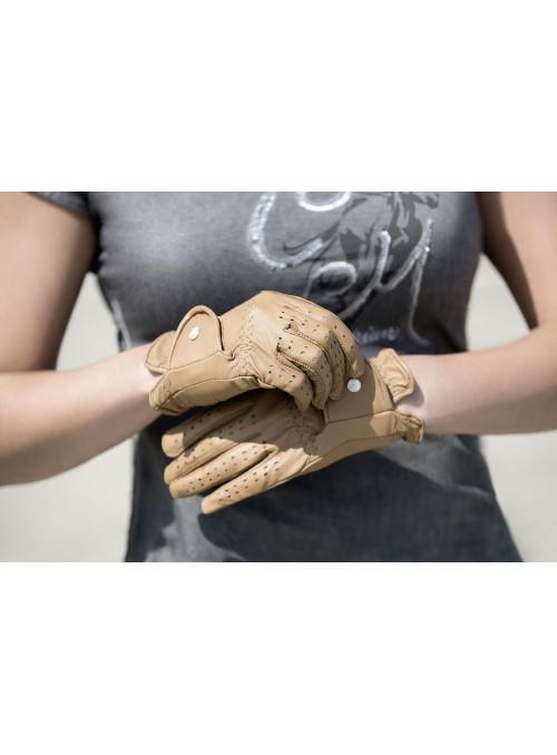 Rękawiczki Rimini skórzane beż XS